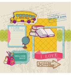 Scrapbook Design Elements - Back to School vector image
