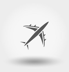 aircraft icon vector image