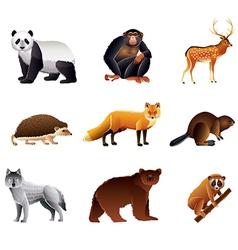 asian animals set vector image