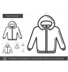 Baby coat line icon vector
