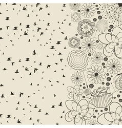 Birds from a flower vector image vector image