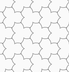 Gray dotted three pedal pointy flower grid vector image vector image