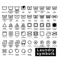 Icon set of laundry symbols vector image vector image