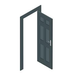 isometric door vector image