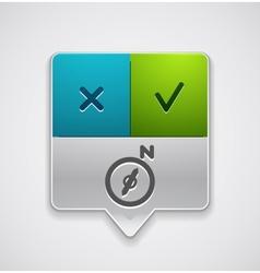 Map navigation pointer vector image vector image