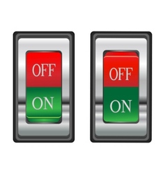 onoff red switch button vector image vector image