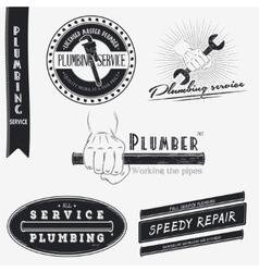Plumbing service Home repairs Repair and vector image