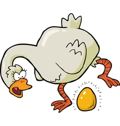 goose laid golden egg vector image vector image