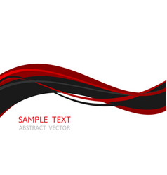 line wave red and black color abstract vector image vector image