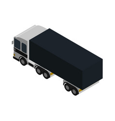 modern lorry truck side view isometric icon vector image vector image