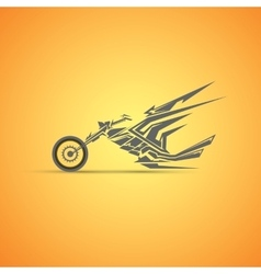 motorcycle label badge abstract motorcycle vector image