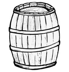 Old wooden barrel vector image