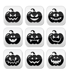 Halloween pumkin buttons set vector image vector image