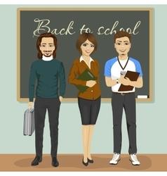 High school teachers vector image