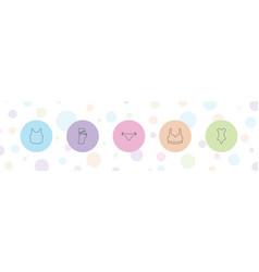 5 panties icons vector