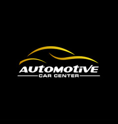 automotive car gold on a dark background vector image