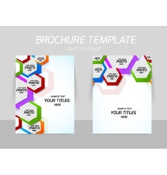 Back and front flyer template design vector image