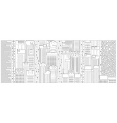 background banner manhattan new york vector image