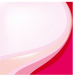 background template with pink and red curves vector image