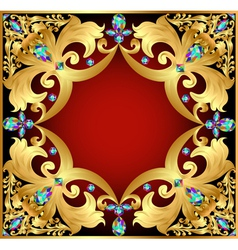 Background with red gems vector