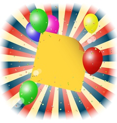 balloons with stick for yout text vector image