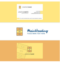 beautiful cupboard logo and business card vector image