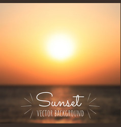 Beautiful summer sunrise or sunset on sea vector