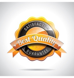 Best quality labels with shiny styled design vector