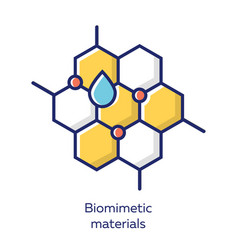 Biomimetic materials yellow color icon copying vector