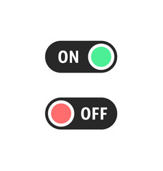 black on and off switches buttons vector image