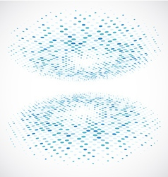 Blue Halftone circle vector image