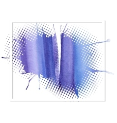 Blue watercolor abstract background vector
