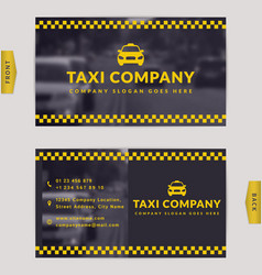 business card for taxi company vector image
