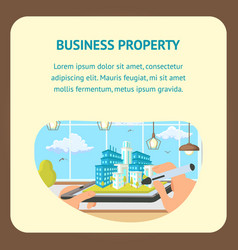 business property flat banner template vector image