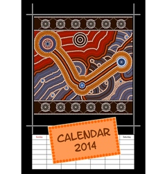 Calender cover - year 2014 vector