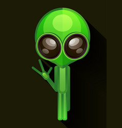 cartoon character funny alien isolated on grey vector image