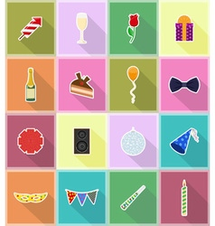 Celebration flat icons 18 vector