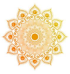 circular pattern mandala vector image