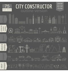 City map generator Elements for creating your vector image