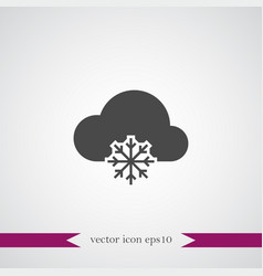 Cloud computing icon simple vector