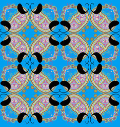 colorful floral paisley seamless pattern arabian vector image