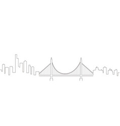 continous line skyline of san francisco vector image