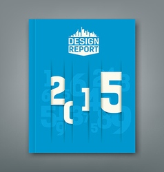 Cover Annual Report numbers 2015 vector image