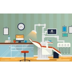 Dental room or cabinet for tooth care vector image vector image