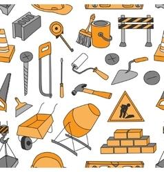 Doodle pattern construction vector image