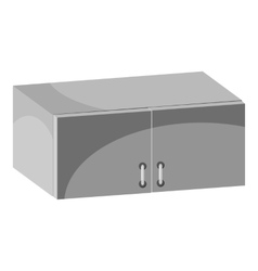 Drawer icon gray monochrome style vector
