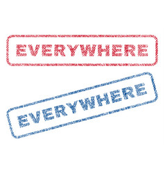 Everywhere textile stamps vector