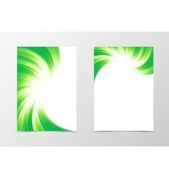 Flyer template swirl design vector image