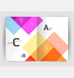 Geometrical brochure a4 business template vector