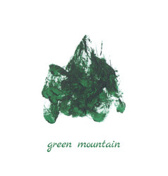green mountain vector image